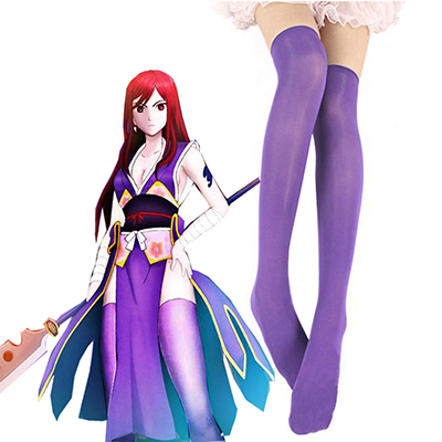 Fairy Tail Titania Erza Scarlet Forever Empress Armor Stockings Cosplay Kellékek Karnevál