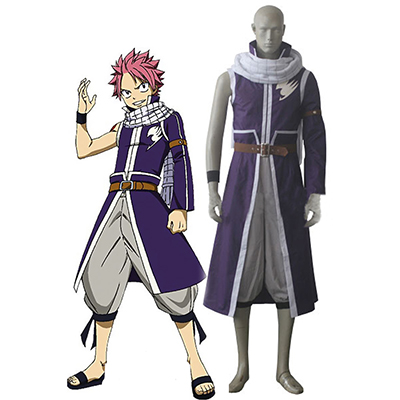 Fairy Tail Team Fairy Tail A Natsu Dragneel Cosplay Costume Mens Carnaval