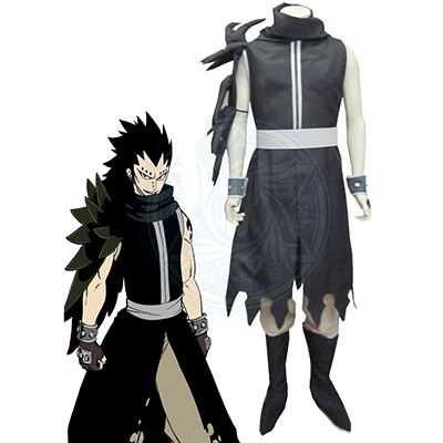 Fairy Tail Gajeel Redfox After Seven Years Cosplay Kostume Fastelavn