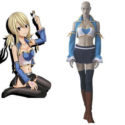 Fairy Tail Lucy Heartfilia After Seven Years Cosplay Kostume Fastelavn