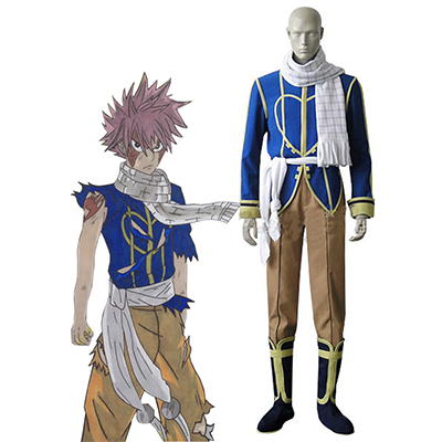 Fairy Tail Dragon Slayers Natsu Dragneel Celestial Spirit Cosplay Kostym Karneval