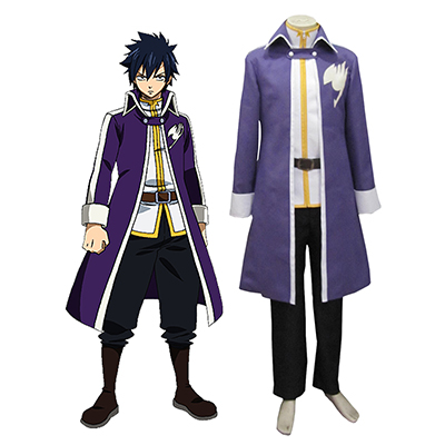 Fairy Tail Team Fairy Tail A Gray Fullbuster Cosplay Kostym Karneval