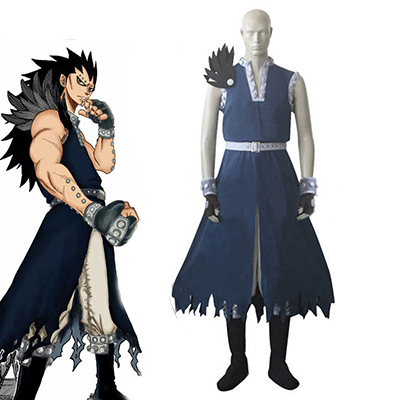 Fairy Tail Dragon Slayer Gajeel Redfox Cosplay Kostym Karneval