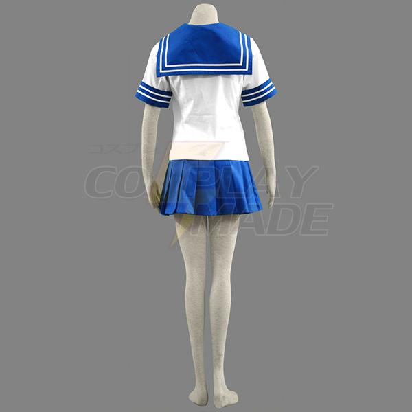 Ikki Tousen Battle Vixens Seito Academy Sailor Koulupuku Cosplay asut Naamiaisasut