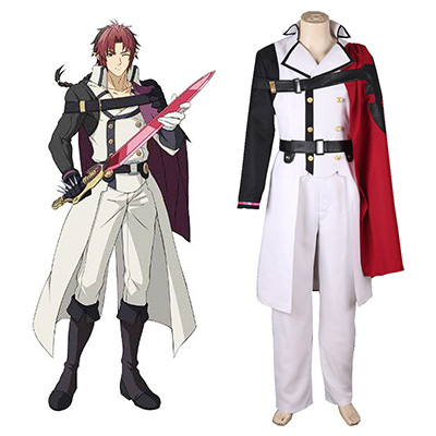 Seraph of the End Crowley Eusford Vampires Enhetlig Cosplay Kostym Karneval