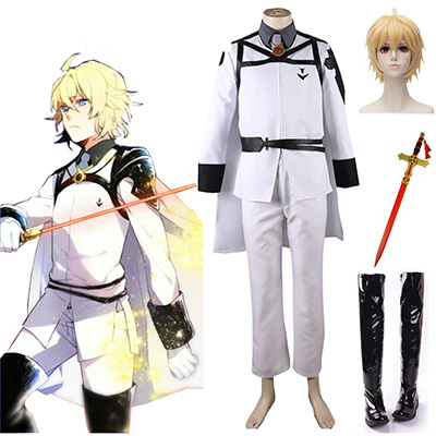 Seraph of the End Mikaela Hyakuya The New Vampires Univormu Cosplay asut Naamiaisasut