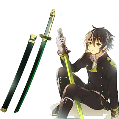 Seraph of the End Yuichiro Hyakuya Demon Fegyverek Asuramaru Fa Kard Cosplay Fegyverek Karnevál