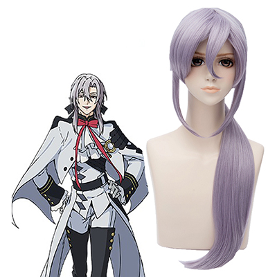 Seraph of the End Ferid Bathory Silver 70cm Perruque Cosplay Carnaval