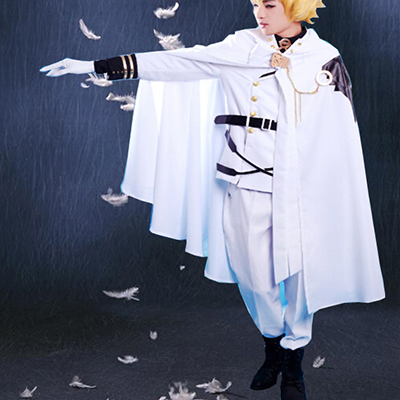 Seraph of the End Vampires Mikaela Hyakuya Enhetlig Cosplay Kostym Karneval