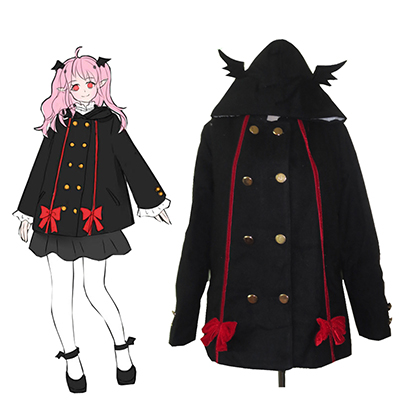 Seraph of the End Krul Tepes Spring Coat Cosplay Kostym Karneval