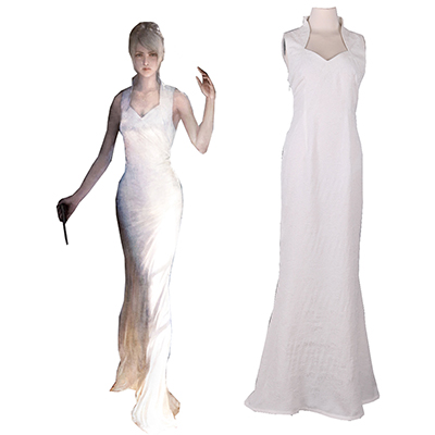 Final Fantasy XV Lunafreya Nox Fleuret Princess Evening Dress Game Cosplay Costume