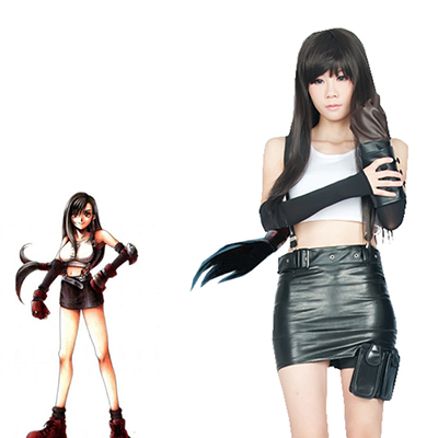 Final Fantasy VII Tifa Lockhart Youngth Fighting Uniform Spiel Faschingskostüme Cosplay Kostüme