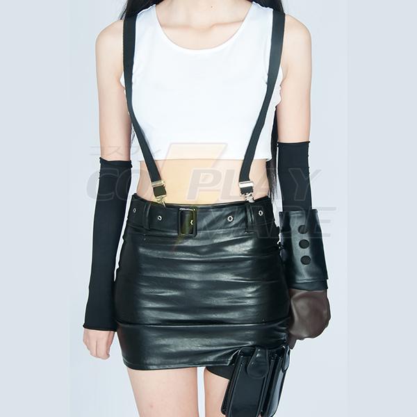 Final Fantasy VII Tifa Lockhart Youngth Fighting Uniform Game Cosplay Kostume Fastelavn