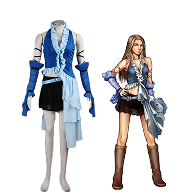 Final Fantasy X Yuna Singing Uniform Spill Cosplay Kostyme Karneval