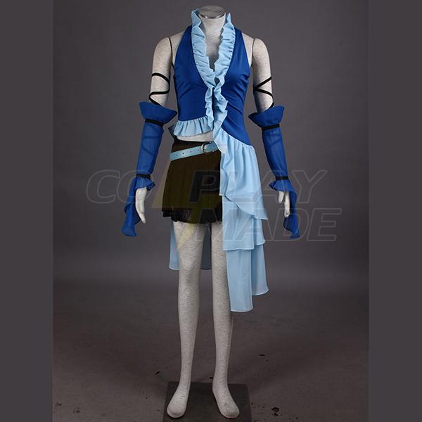 Final Fantasy X Yuna Singing Egyenruha Játék Cosplay Jelmez Karnevál