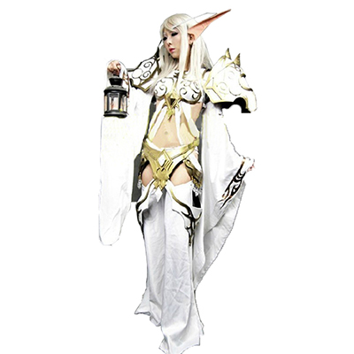 World of Warcraft WOW Blood elf Mage Cosplay Kostym Warcraft III Karneval