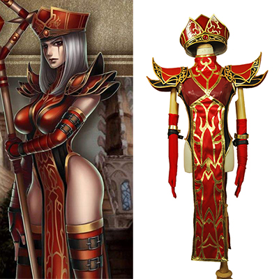 World of Warcraft WOW Sally Whitemane Cosplay Kostym Karneval