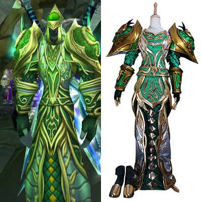 World of Warcraft WOW Dryad T3 / Tier 3 Cosplay Kostym Karneval