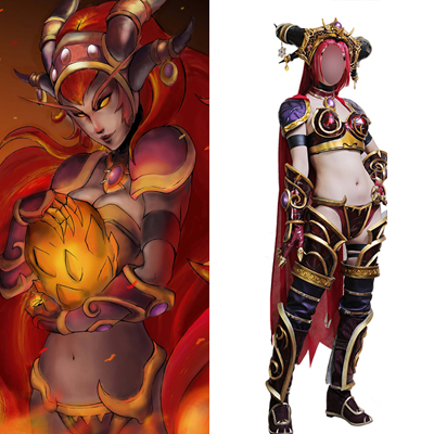 World of Warcraft WOW Alexstrasza Cosplay Kostyme Karneval