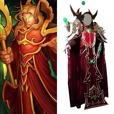 World of Warcraft WOW Kael'thas Sunstrider Cosplay Kostyme Karneval