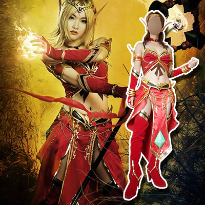 World of Warcraft WOW Blood Mage CG Cosplay Costume