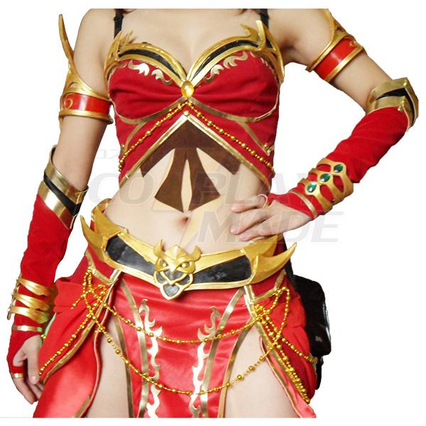 World of Warcraft WOW Blood Mage CG Cosplay Kostume Fastelavn