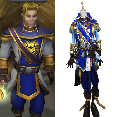 World of Warcraft WOW Anduin Wrynn Cosplay Kostyme Karneval
