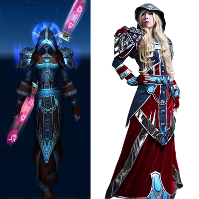 World of Warcraft WOW Mage S3 Cosplay Kostym Karneval