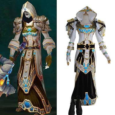World of Warcraft WOW Tier 6 Mage Cosplay Kostym Karneval