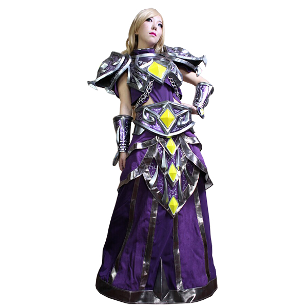 World of Warcraft WOW Tier 10 Mage Cosplay Kostym Karneval