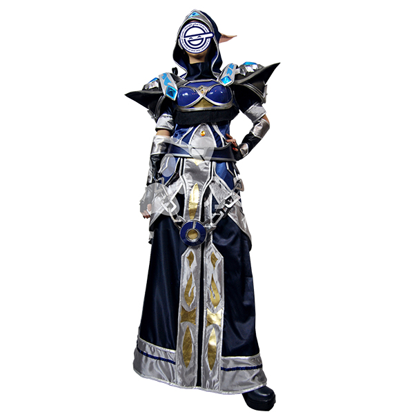 World of Warcraft WOW Ethereal illusion Technology Tier 5 Mage Cosplay Kostume Fastelavn