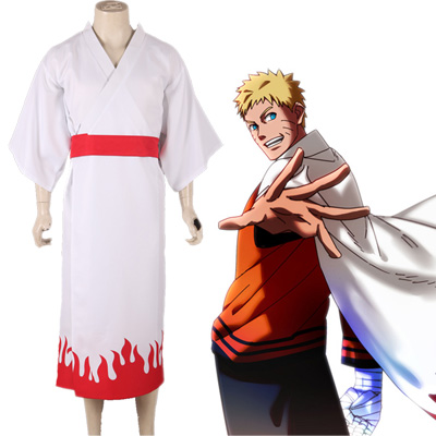 Boruto: Naruto Next Generations Uzumaki Naruto Seventh Hokage Kimono Yukata Cosplay Kostyme Karneval