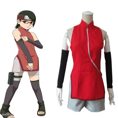 Boruto: Naruto Next Generations Uchiha Sarada Cheongsam Manga Cosplay Kostuum Carnaval