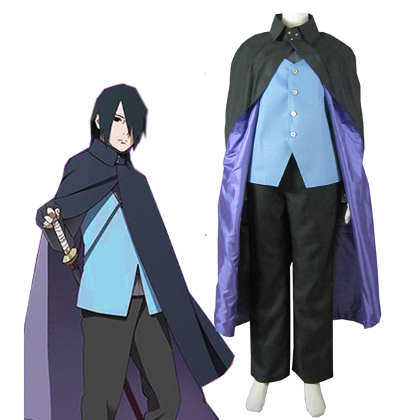 Boruto: Naruto Next Generations Uchiha Sasuke Konoha Suit Anime Cosoplay Kostume Fastelavn