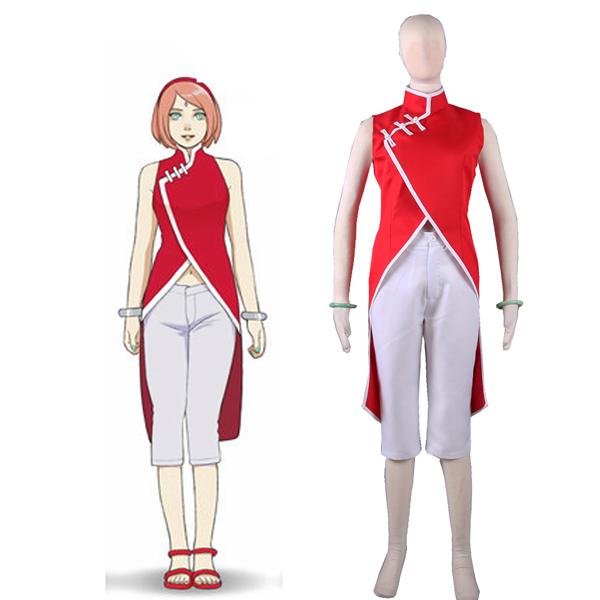 Boruto: Naruto Next Generations Haruno Sakura Cheongsam Cosplay Jelmez Karnevál
