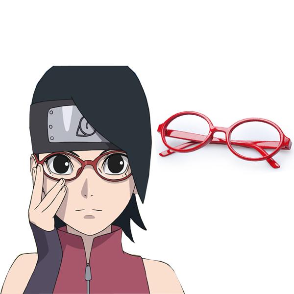 Boruto: Naruto Next Generations Uchiha Sarada Frame Cosplay Glasses Kellékek Karnevál