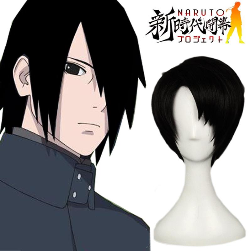 Boruto: Naruto Next Generations Uchiha Sasuke Konoha Cosoplay Peruukki Black Naamiaisasut