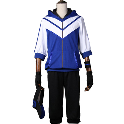 Pokemon Go Team Valor Mystic Instinct Trainer Figure Blue Hoodie Cosplay Costume