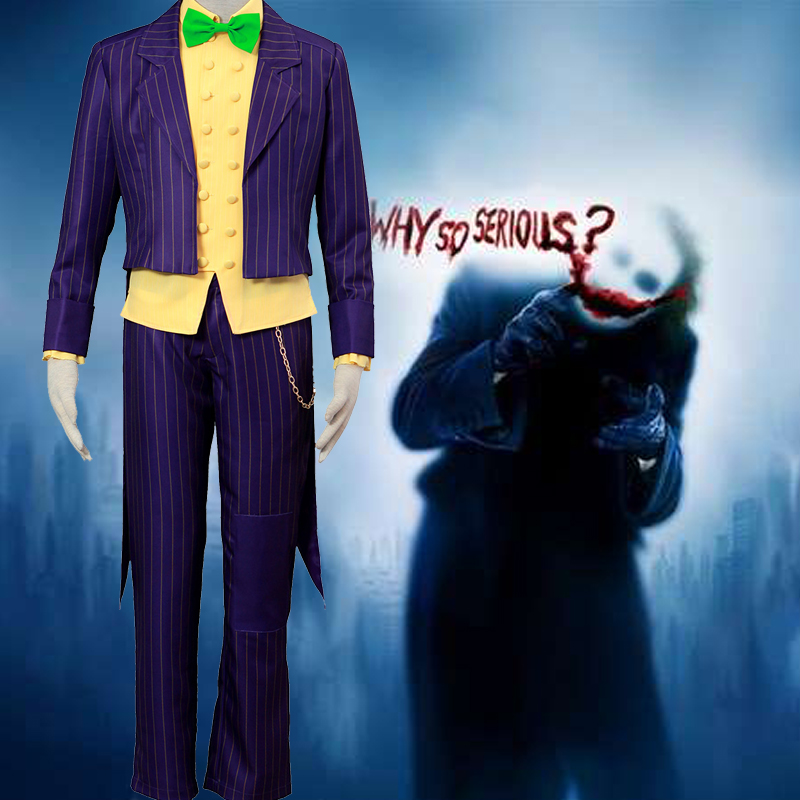 Trajes Batman:Arkham City Joker Cosplay Halloween Traje Brasil