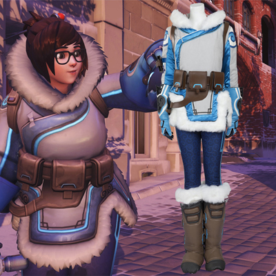 Overwatch Mei Ling Zhou Cosplay Halloween Costumes