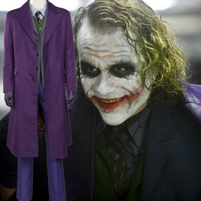 Batman The Dark Knight:The Joker Cosplay Halloween Kostymer Norge (Ordinær Avsnitt)