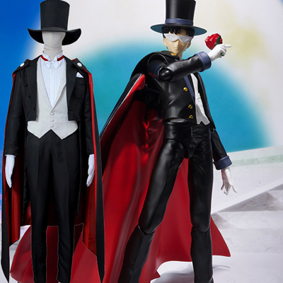 Costumi Carnevale Sailor Moon Darien Tuxedo Mask Cosplay Halloween Italia