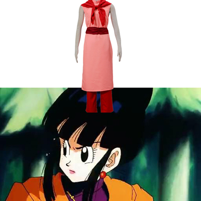 Dragon Ball Z Chi Chi Cosplay Costume Pink Long Dresses UK Shop