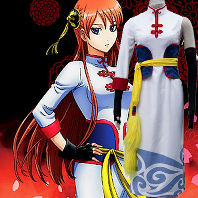 Anime Gintama Kagura Cheongsam Dresses Cosplay Costume UK Shop