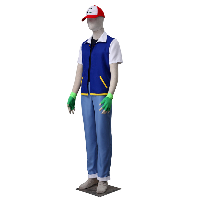 Déguisement Pocket Monster/Pokémon Ash Ketchum Costume Carnaval Cosplay Halloween France