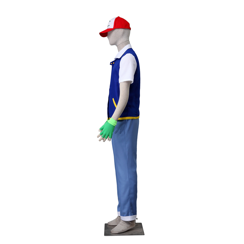 Trajes Pocket Monster/Pokémon Ash Ketchum Cosplay Halloween Traje Brasil