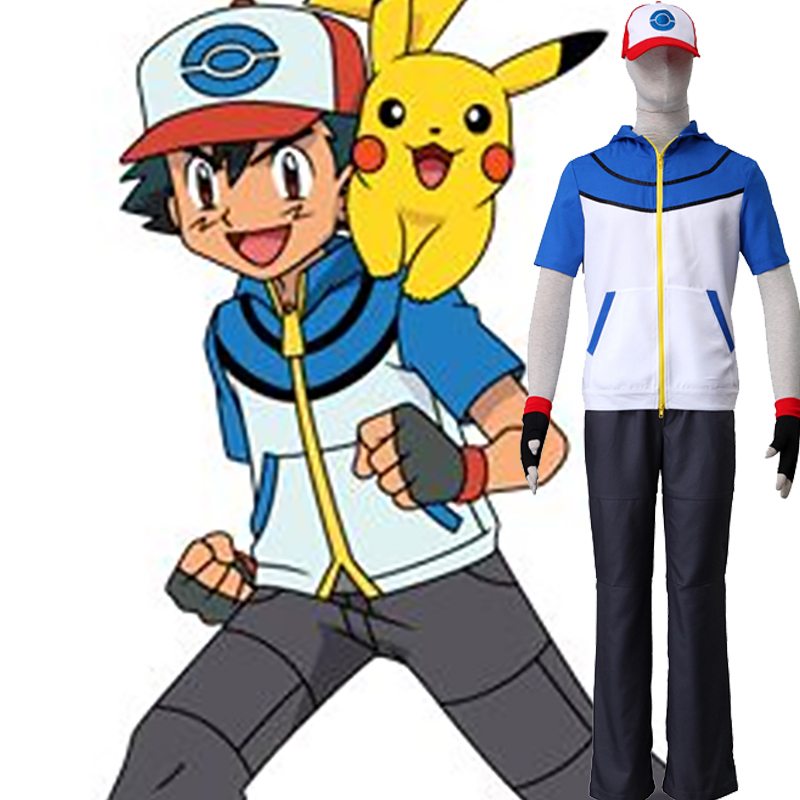 Pocket Monster/Pokémon Ash Ketchum II Cosplay Kostymer Norge