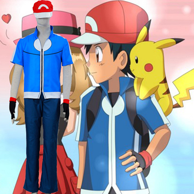 Pocket Monster/Pokémon Ash Ketchum 5 Cosplay Kostymer Norge