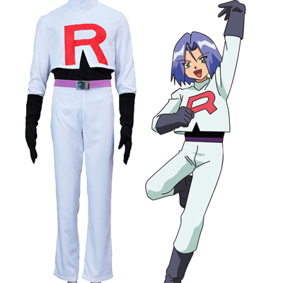 Pocket Monster/Pokémon Team Rocket James Cosplay Costume