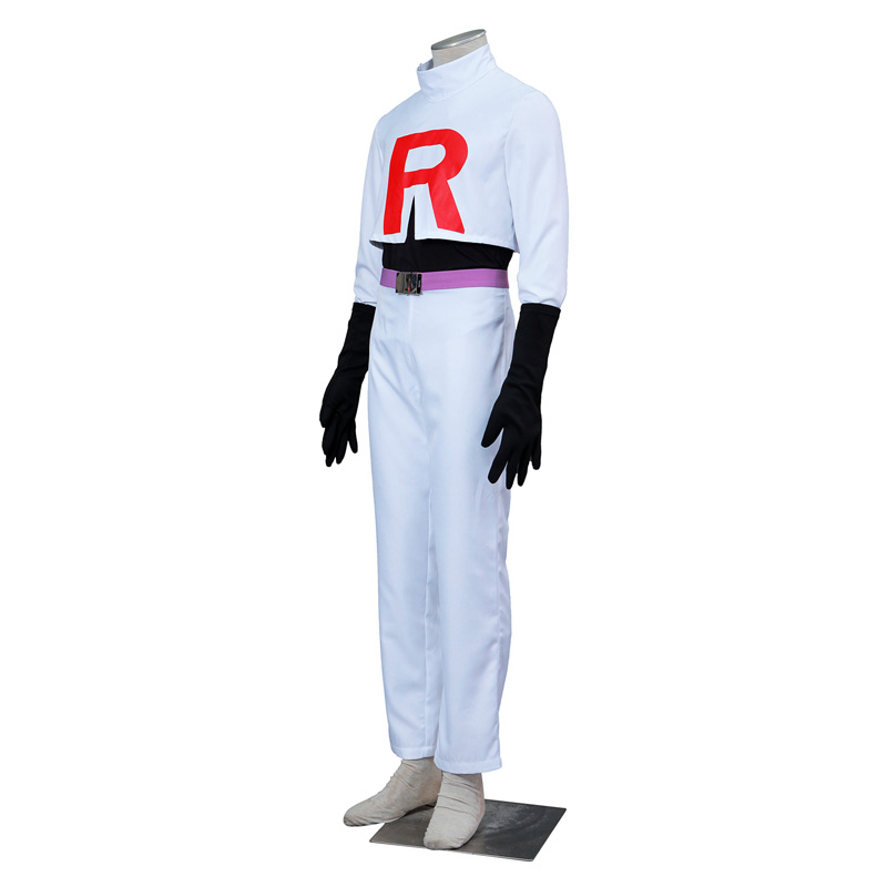 Trajes Pocket Monster/Pokémon Team Rocket James Cosplay Traje Brasil
